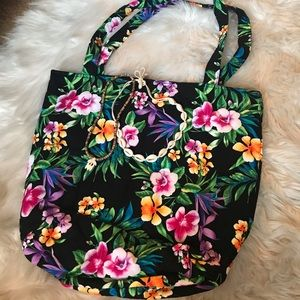 Handbags - Hawaiian tote bag with duo necklaces